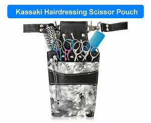 Kassaki Hairdressing Scissor Pouch Tool Belt Waist Bag Shear Case in Grey