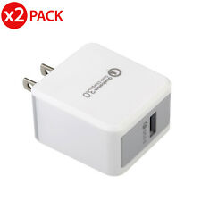 2x [Quick Charge 3.0] Qualcomm Certified 18W High Rapid USB Wall Charger Adapter