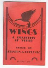 WINGS A QUARTERLY OF VERSE Autumn 1941 - poem by Clark Ashton Smith.