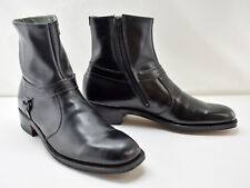 Vintage Breather Wright Arch Preserver Black Ankle Beatle Boot Side Zip-9A W/Box