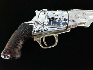 Vintage Avon Gun Colt Revolver After Shave Bottle Glass Metal Plastic Collector