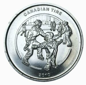 Canadian Tire 2010 Commemorative Token-Coin Skating $1