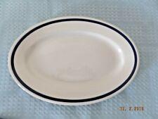 Shenango Blue Trim Rim-Rol Wel-Roc Platter Restaurantware