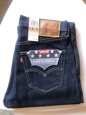 Levis 501. Made In Usa. White Oak Cone Mills Raw Selvedge. NWT. 32x32. No LVC