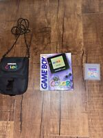 Game Boy Color Atomic Purple Console WITH BOX Tested Super Mario Land NINTENDO