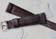 Fine vintage Hamilton watch 20mm strap Real Teju Lizard with Hamilton buckle NOS