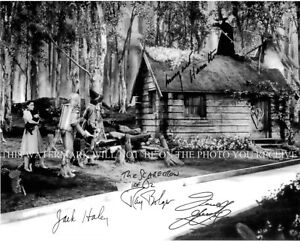 THE WIZARD OF OZ CAST SIGNED 8x10 RP PHOTO MARGARET HAMILITON JUDY GARLAND HALEY