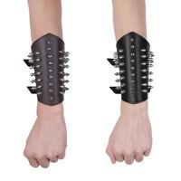 Punk Rock Faux Leather Rivet Armband Stud Spike Bracelet Cuff Bangle Wristband