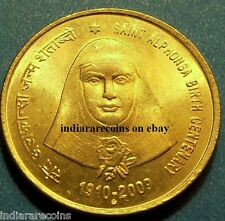 India Indien Inde Holy Saint Alphonsa Rose B mint Christianity UNC NEW 2009