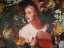 "USA 34"" Oilily Silk Scarf Pre-Raphaelite Art Polka Dots Signatured NWT 135.00"