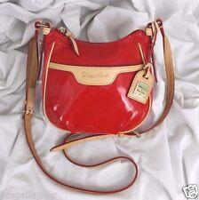 DOONEY & BOURKE Red Patent Mini Margot Crossbody Bag Purse LN