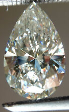 2.63ct Si1/GENUINE WHITE H-i WHITE COLOR LOOSE PEAR REAL MOISSANITE FOR RING