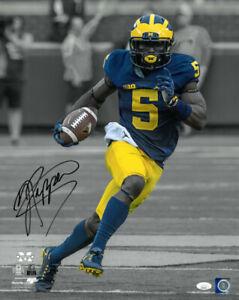 Jabrill Peppers signed Michigan Wolverines NCAA Spotlight Run 16x20 Photo- JSA