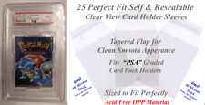 Perfect Fit Large PSA Graded Card Pack Holder Sleeves 25 Count Protect Them