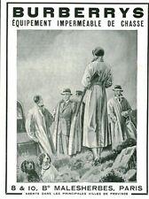 Publicité Ancienne  Vêtements Burberrys   1933