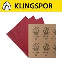Sandpaper Sanding Sheets KLINGSPOR PL28C Wood Metal Paint Varnish Filler
