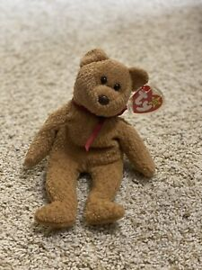 """RARE RETIRED TY Beanie Baby """"CURLY"""" with RARE tag errors 4052 From 1996"""