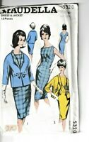 "Maudella Vintage Sewing Pattern 5320 Dress & Jacket 1960s 34"" 40"" Ladies 10 16"