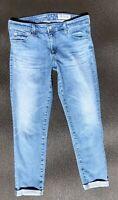 ADRIANO GOLDSCHMIED THE STILT ROLL UP CIGARETTE CROP Womens 31 Light Denim Jeans