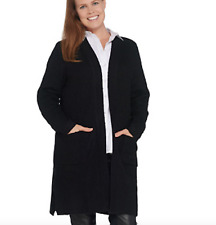 Linea by Louis Dell'Olio Open Front Cardigan - 1X - Black
