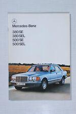 Mercedes-Benz Sales Brochure W126: 380SE, 380SEL, 500SE, 500SEL