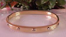 Bracelet Ovale 585 OR JAUNE 14 K bracelet bracelet 12,3 grammes 40