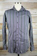 Etro Milano Shirt Size 40 Medium Multi-Colored Striped Cotton Long Sleeve #26