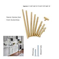 Brass Cupboard Handles Knob Modern  Kitchen Cabinet Drawer Handle Pull 2-13in