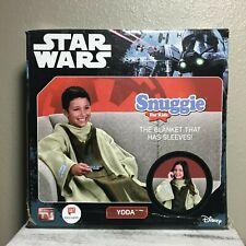 "Disney Star Wars Snuggie Blanket With Sleeves Youth Kids Yoda Size 54"" x 42"" New"