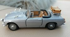 1:43 Scale Silver MGB Cabriolet Convertible Unusual Unmarked Police Car Boxed