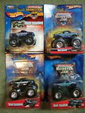 4 older Carded Hot Wheels Monster Truck MOC 1-64 lot all BLUE THUNDER 17 18