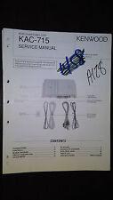 Kenwood kac-715 service manual original repair book car radio amp amplifier