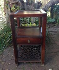 Unique Vintage Chinese square wooden table/board with one draw.Room decoration.