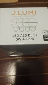 J.LUMI BPC4505 LED Bulb 5W, A15 Bulb, G45 Bulb Shape, 40 Watt Equivalent, E26 Ba