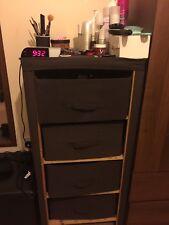 Assembled 4 Drawer Basket Cabinet Storage Draws Bathroom Hallway Bedside Table