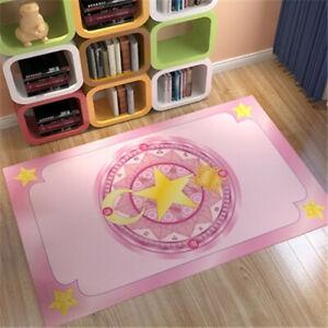 Card Captor Sakura Pink Decorative Bed Door Rectangle Carpet Rug Ground Mat