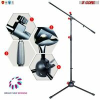EXTENDABLE ARM 360° Rotating Microphone Stand Mic Boom Foldable Tripod MS080