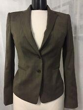 Ann Taylor Brown Wool Blend Women's Lined Blazer Size 0 NWT $238