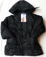 New Girls Kids Coat School Padded Puffa Warm Hooded Jacket Age 3 to 13 years