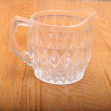 Vintage Glass Diamond Pattern Clear Creamer