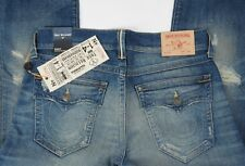 NEW Men's True Religion Jeans RICKY Selvedge Relaxed Straight Size 36 w Flap