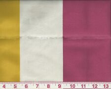 Clarence House Stripe Upholstery Fabric Rtl $174y Concerto Geranium Yellow Green