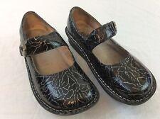 Alegria Womens 36 US Size 6 Crackle Black Mary Janes Shoes EUC