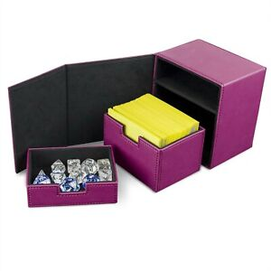 BCW Pink Leatherette Deck Box Vault LX Hold 100 Sleeved Topload Gaming CCG Cards
