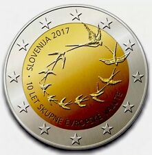 Slovenia 2 Euro Coin 2017 Commemorative 10 Years EU New BUNC from Roll Birds