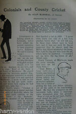 County Cricket Hickory Golf Surface lures Fishing Old Illustrated Article 1907