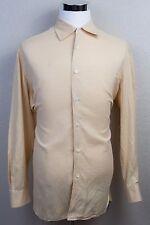 Men's Luigi Borrelli For Stanley Korshak Pale Yellow Button Up Shirt Sz XL