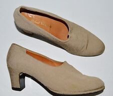 ROBERT CLERGERIE PARIS SZ 8 AA NARROW FABRIC PUMPS SHOES MADE IN FRANCE