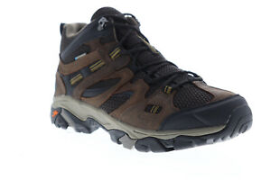 Hi-Tec Ravus Vent Mid LUX 53133 Mens Brown Leather Mid Top Hiking Boots 13