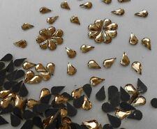 150pcs Hotfix Crystal Yellow Glass Water Drop 5x8mm Flatback Rhinestones Iron on